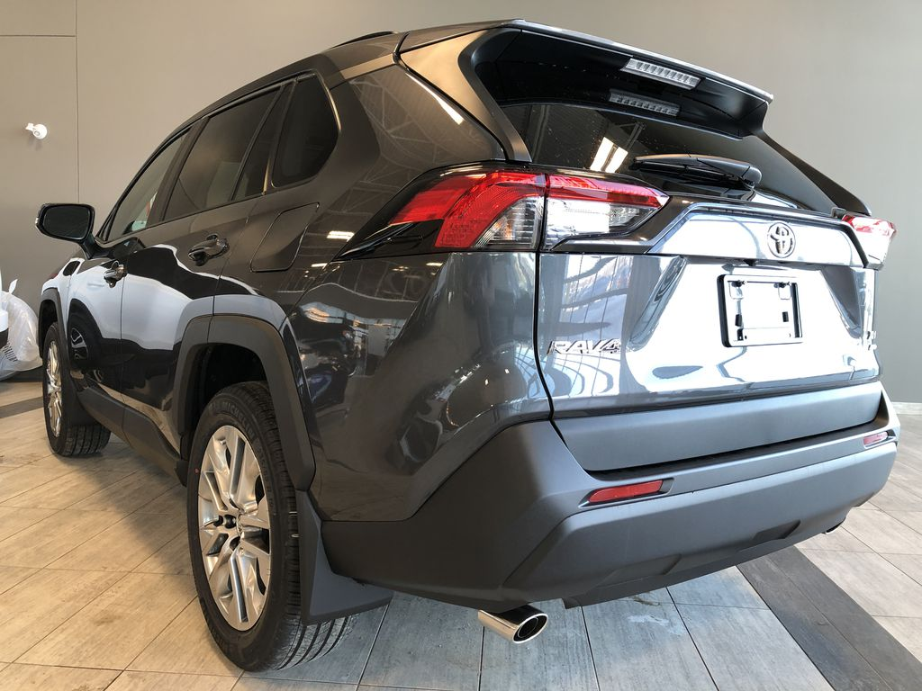 Magnetic Grey Metallic 2021 Toyota RAV4 XLE Premium Left Rear Corner Photo in Edmonton AB