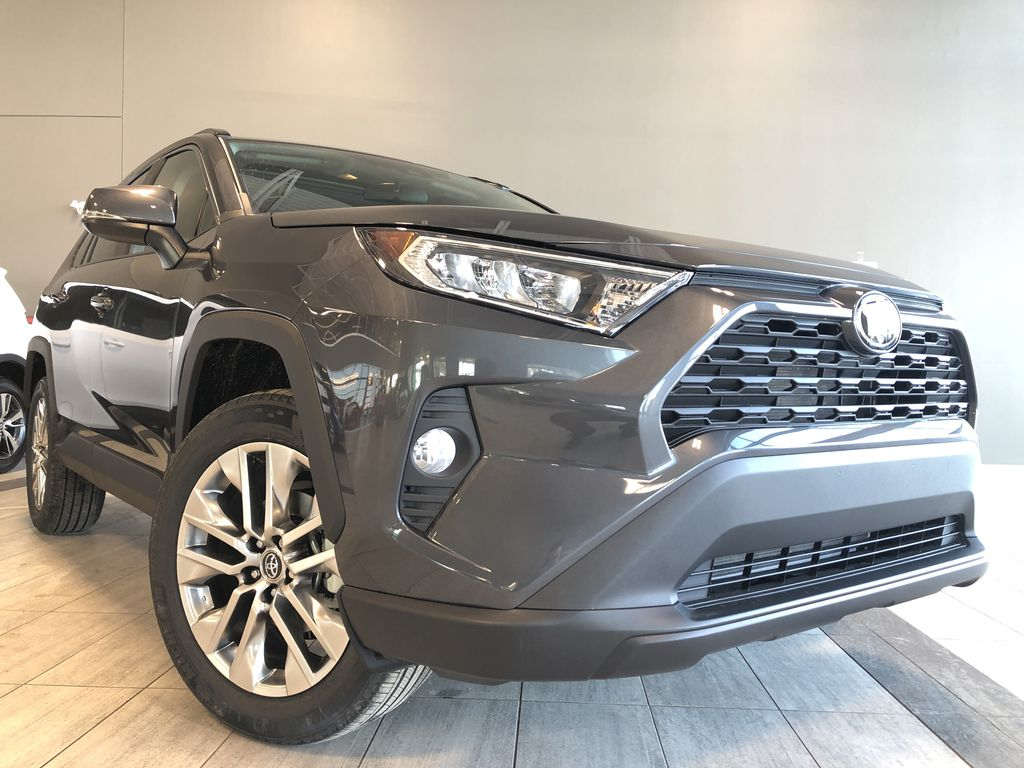 Magnetic Grey Metallic 2021 Toyota RAV4 XLE Premium Left Front Interior Photo in Edmonton AB