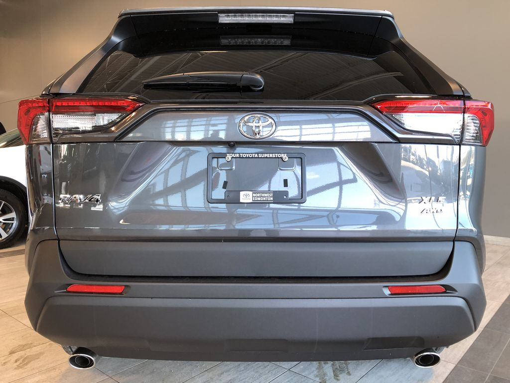 Magnetic Grey Metallic 2021 Toyota RAV4 XLE Premium Trunk / Cargo Area Photo in Edmonton AB