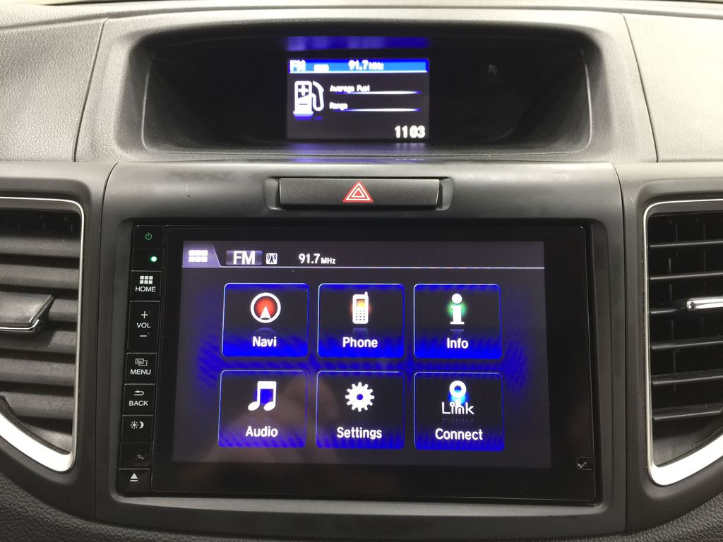 RED 2015 Honda CR-V Touring AWD Infotainment Closeup Photo in Sherwood Park AB