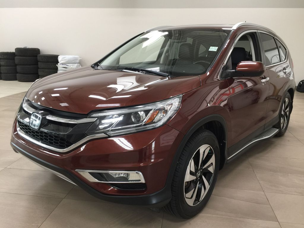 RED 2015 Honda CR-V Touring AWD Left Front Corner Photo in Sherwood Park AB