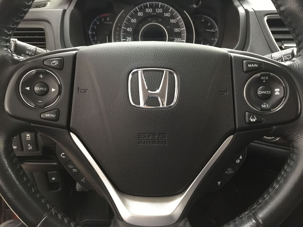 RED 2015 Honda CR-V Touring AWD Steering Wheel and Dash Photo in Sherwood Park AB