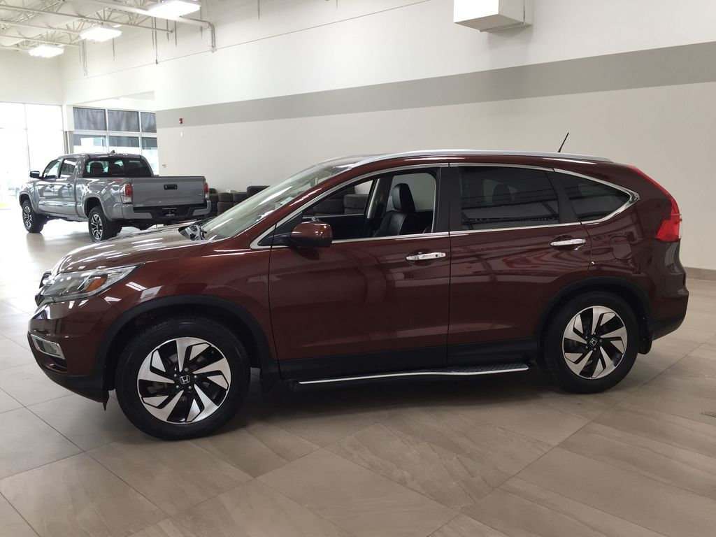 RED 2015 Honda CR-V Touring AWD Left Side Photo in Sherwood Park AB