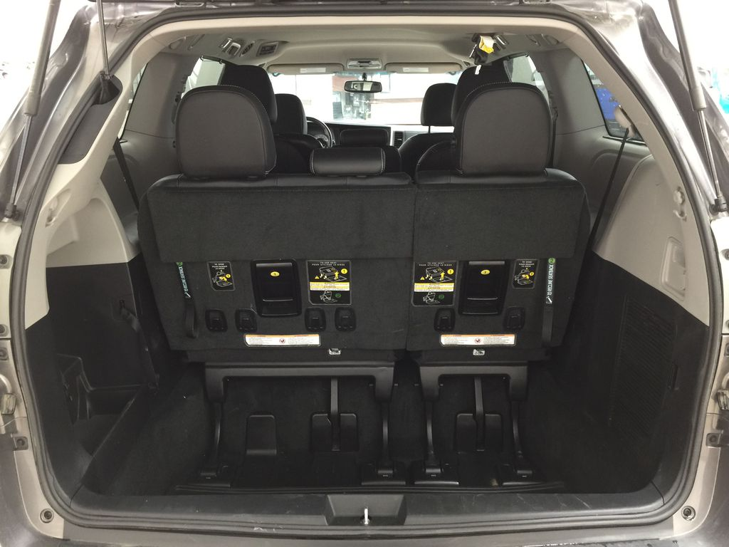 Gray[Pre-Dawn Grey Mica] 2017 Toyota Sienna SE Cargo Area/Rear Seats Photo in Sherwood Park AB
