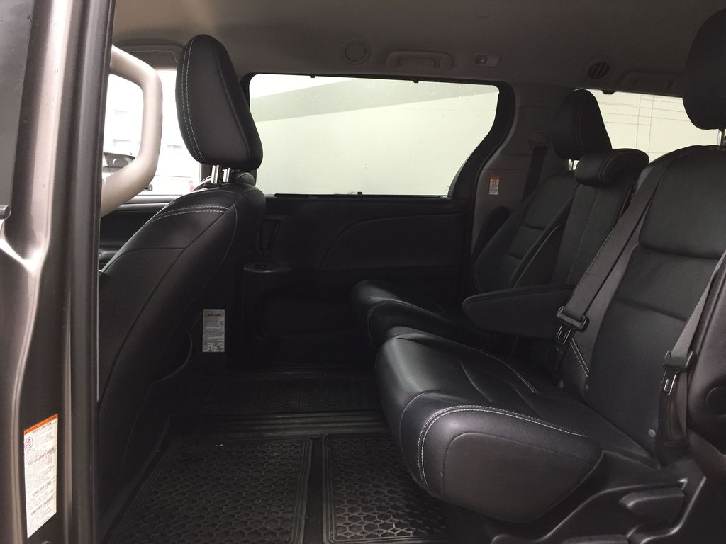 Gray[Pre-Dawn Grey Mica] 2017 Toyota Sienna SE Left Side Rear Seat  Photo in Sherwood Park AB