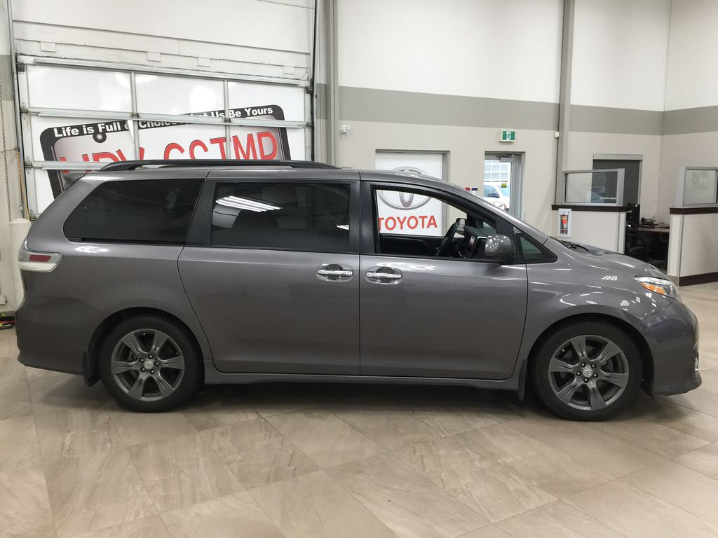 Gray[Pre-Dawn Grey Mica] 2017 Toyota Sienna SE Right Side Photo in Sherwood Park AB