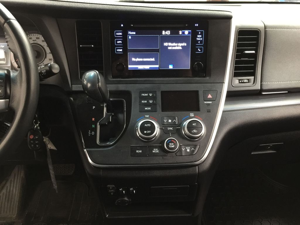 Gray[Pre-Dawn Grey Mica] 2017 Toyota Sienna SE Central Dash Options Photo in Sherwood Park AB