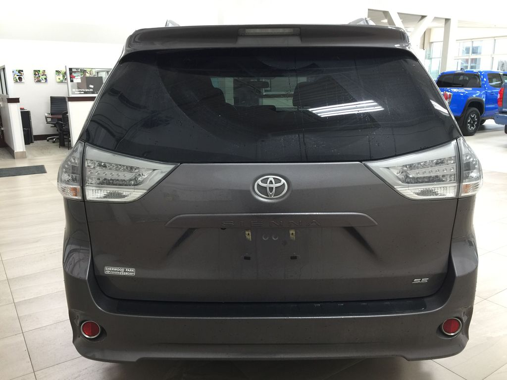 Gray[Pre-Dawn Grey Mica] 2017 Toyota Sienna SE Rear of Vehicle Photo in Sherwood Park AB