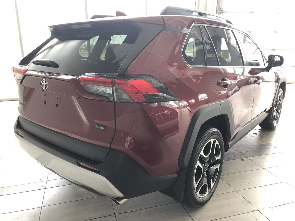 Red 2020 Toyota RAV4 Trail | Toyota Certified Rear of Vehicle Photo in Edmonton AB