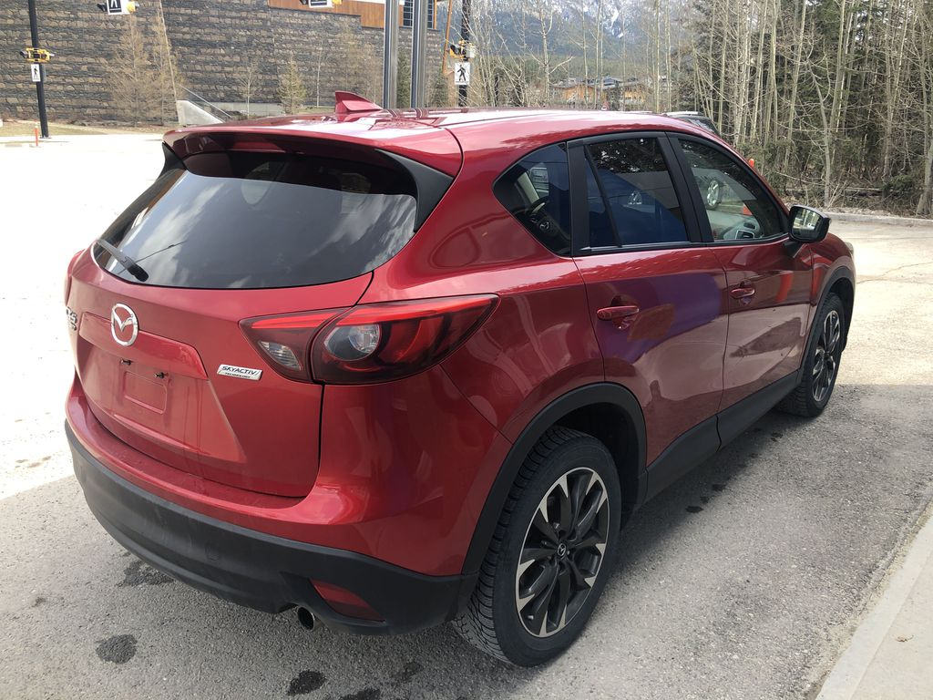 Red[Soul Red Mica] 2016 Mazda CX-5 Right Rear Corner Photo in Canmore AB