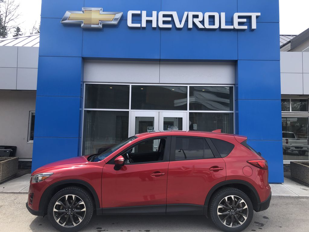 Red[Soul Red Mica] 2016 Mazda CX-5 Left Side Photo in Canmore AB