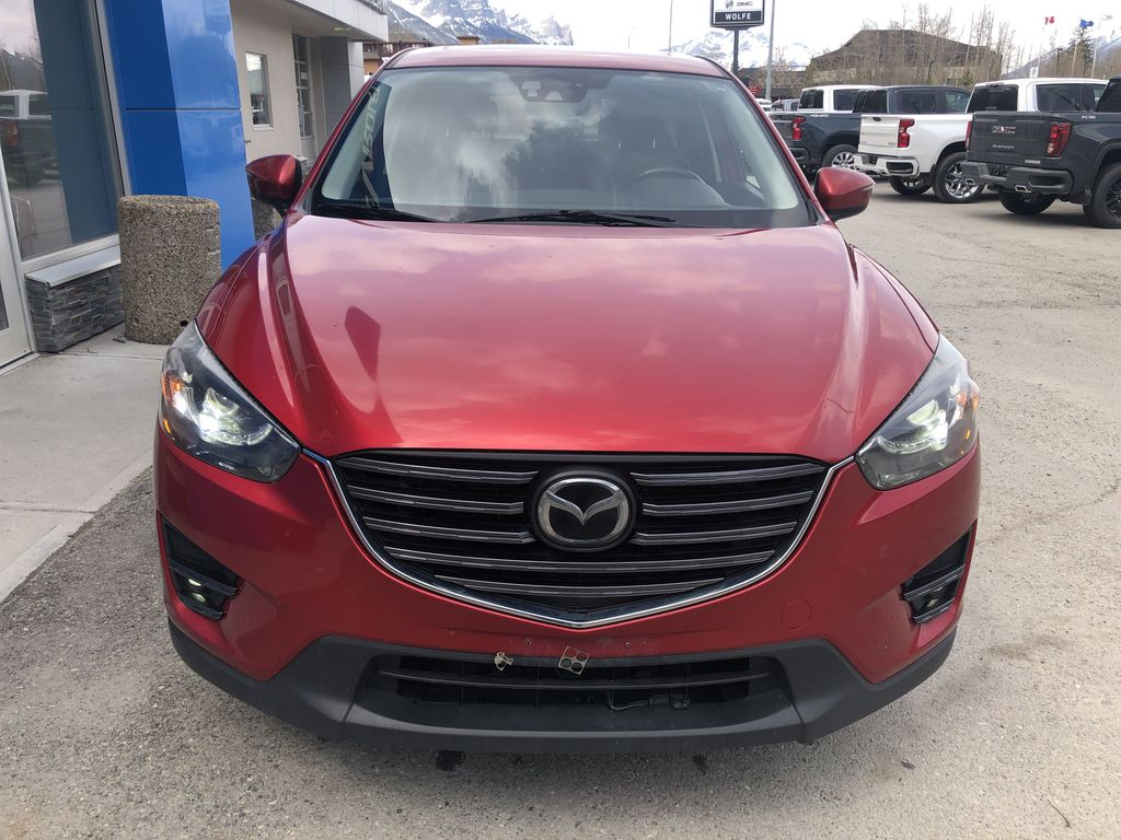 Red[Soul Red Mica] 2016 Mazda CX-5 Front Vehicle Photo in Canmore AB
