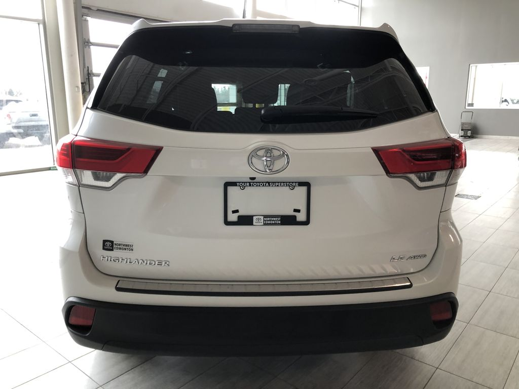 White 2018 Toyota Highlander LE | Toyota Certified Trunk / Cargo Area Photo in Edmonton AB