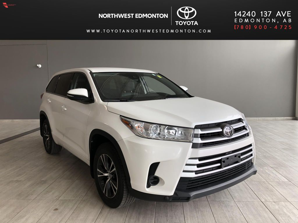 White 2018 Toyota Highlander LE   Toyota Certified