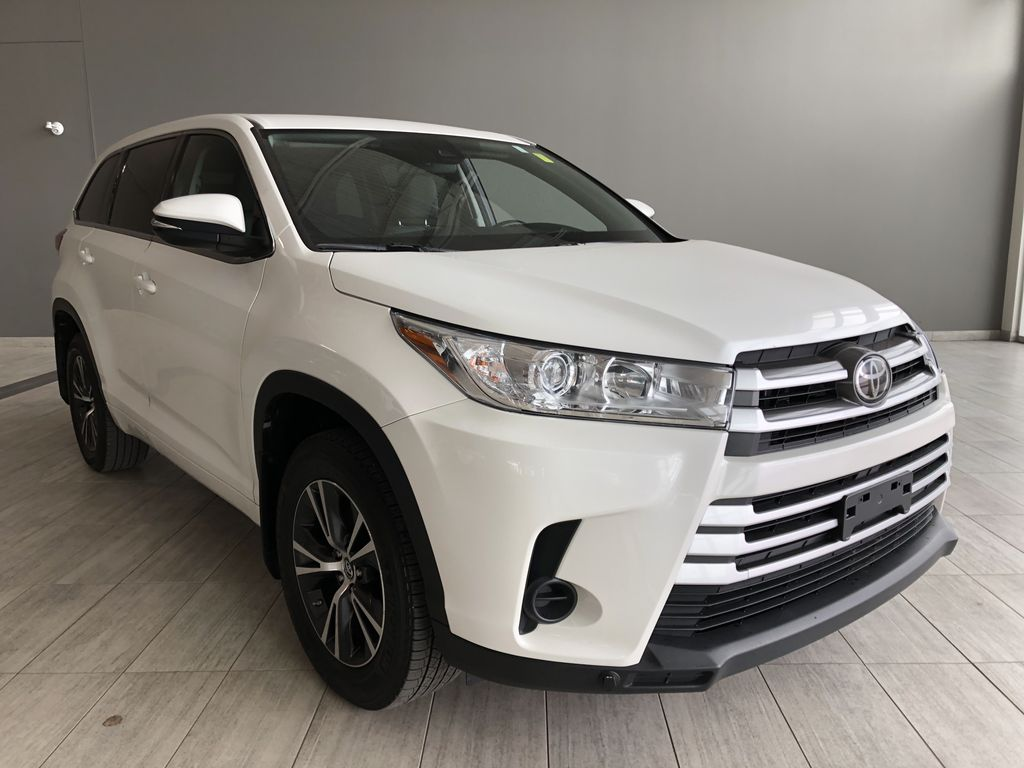 White 2018 Toyota Highlander LE | Toyota Certified Left Front Interior Photo in Edmonton AB