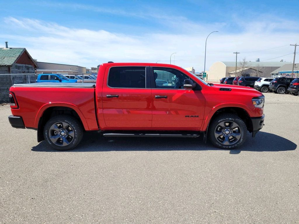 Red 2021 Ram 1500 Left Front Interior Photo in Fort Macleod AB