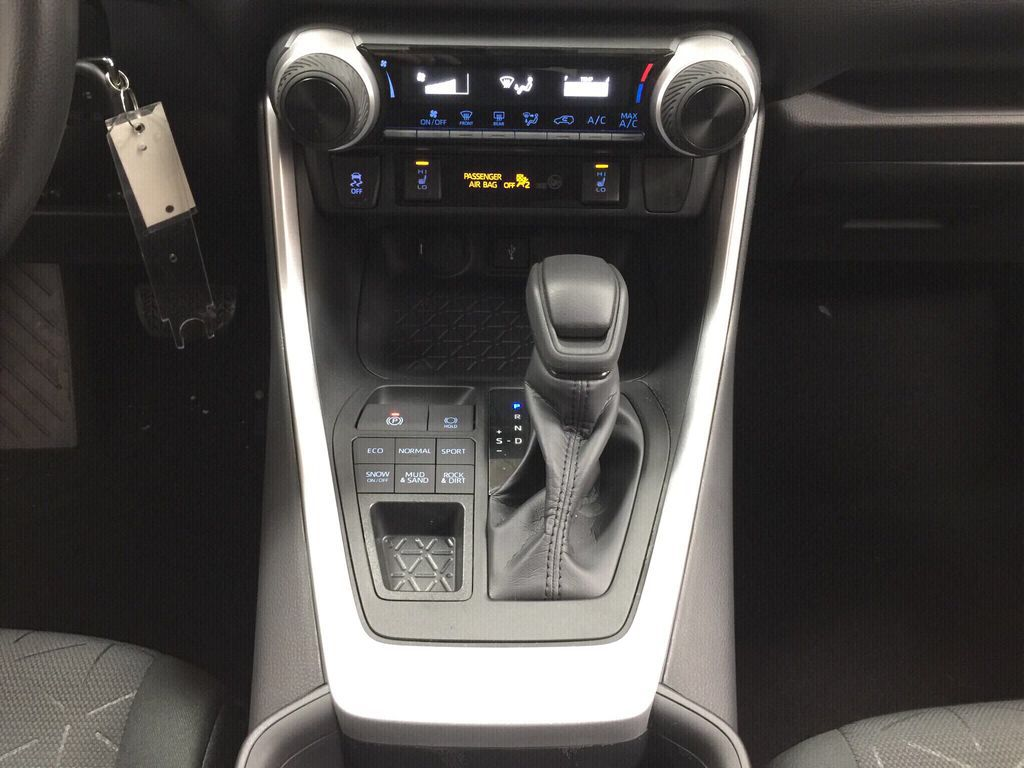 White[Super White] 2021 Toyota RAV4 LE AWD Lower Dash Photo in Sherwood Park AB