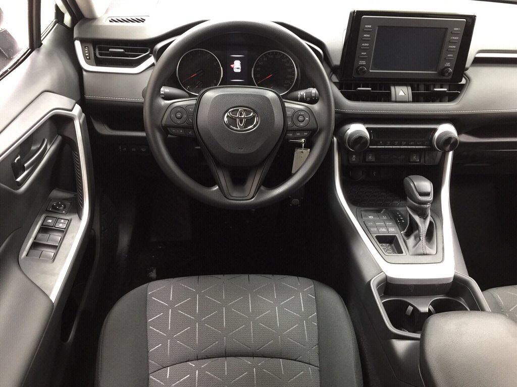 White[Super White] 2021 Toyota RAV4 LE AWD Left Front Seat Photo in Sherwood Park AB