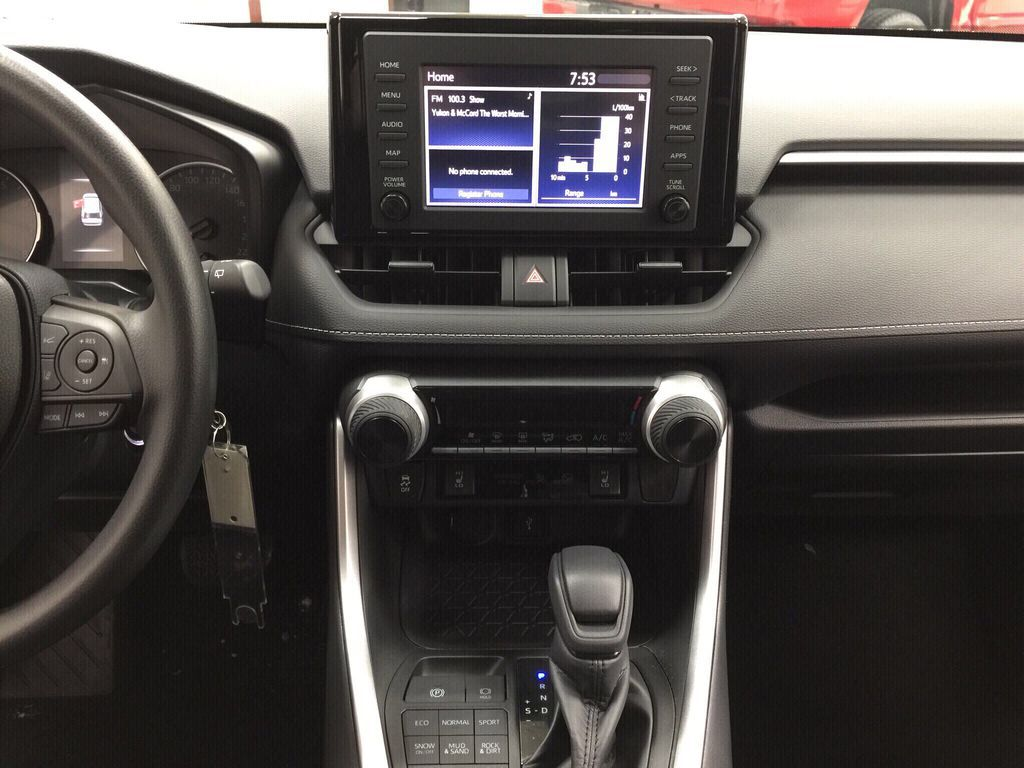 White[Super White] 2021 Toyota RAV4 LE AWD Central Dash Options Photo in Sherwood Park AB