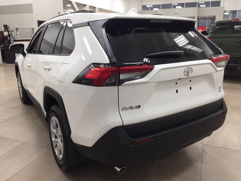 White[Super White] 2021 Toyota RAV4 LE AWD Left Rear Corner Photo in Sherwood Park AB