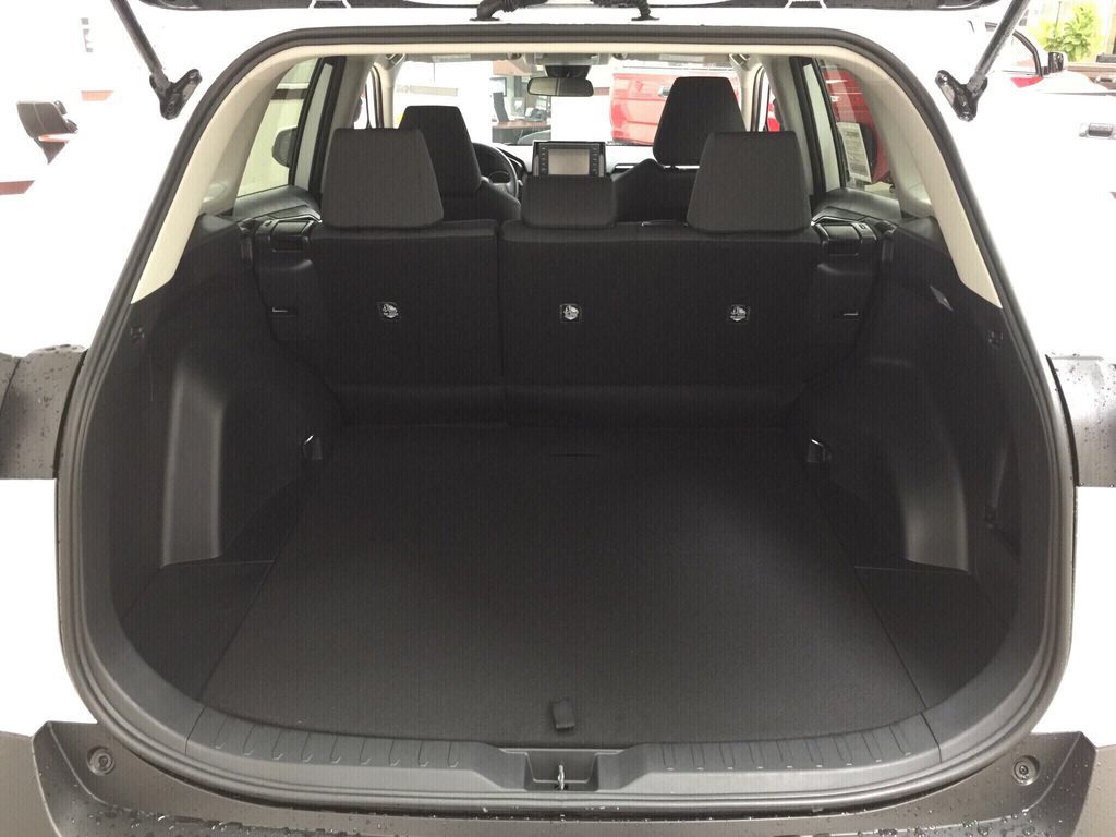 White[Super White] 2021 Toyota RAV4 LE AWD Cargo Area/Rear Seats Photo in Sherwood Park AB