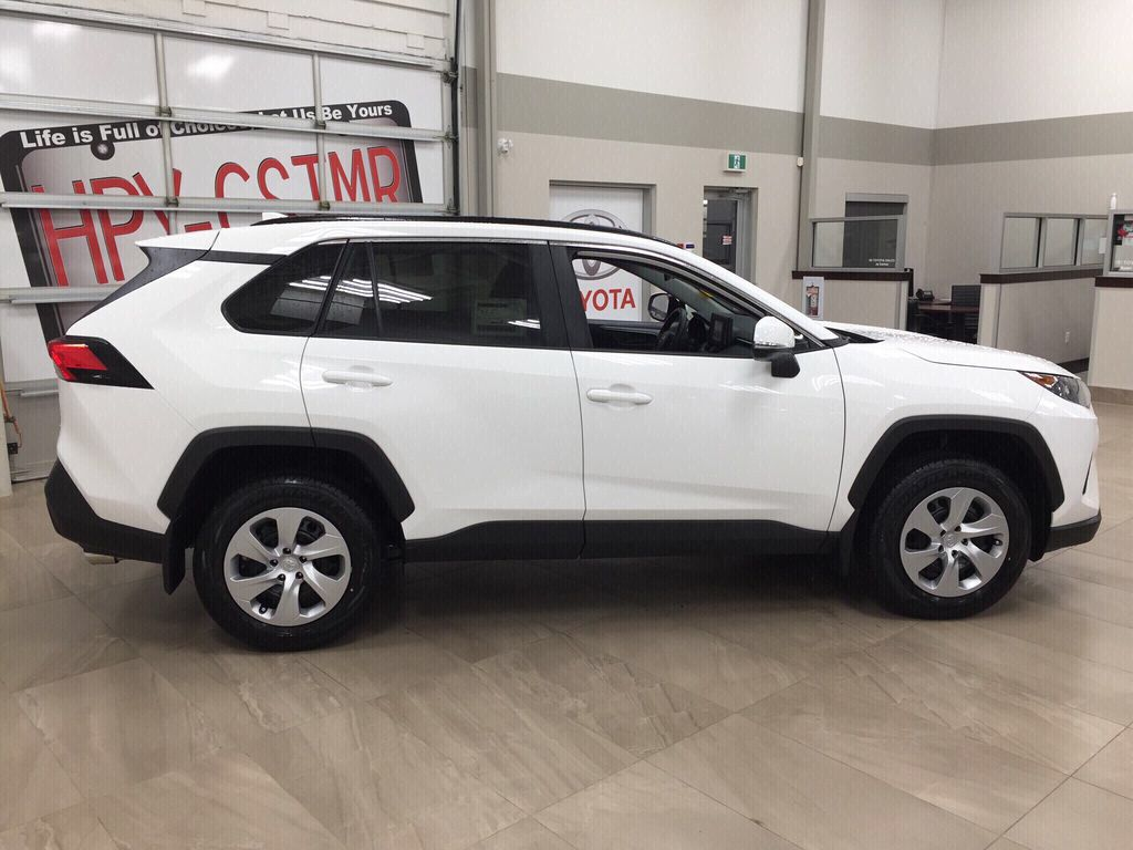 White[Super White] 2021 Toyota RAV4 LE AWD Right Side Photo in Sherwood Park AB
