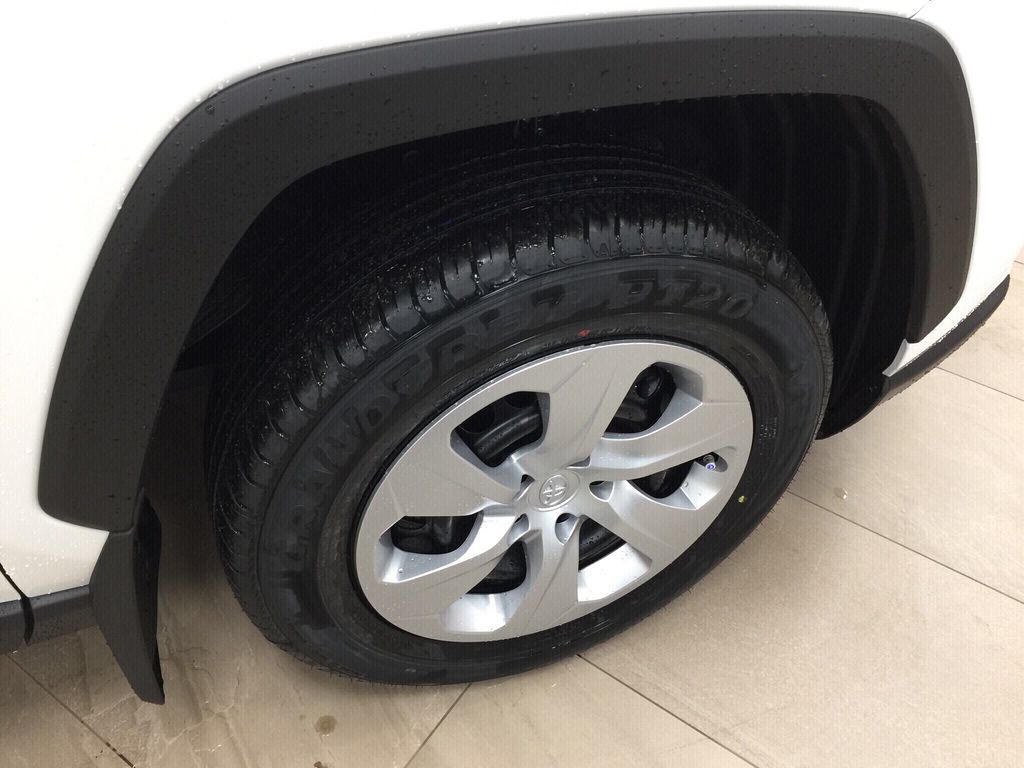 White[Super White] 2021 Toyota RAV4 LE AWD Right Front Rim and Tire Photo in Sherwood Park AB