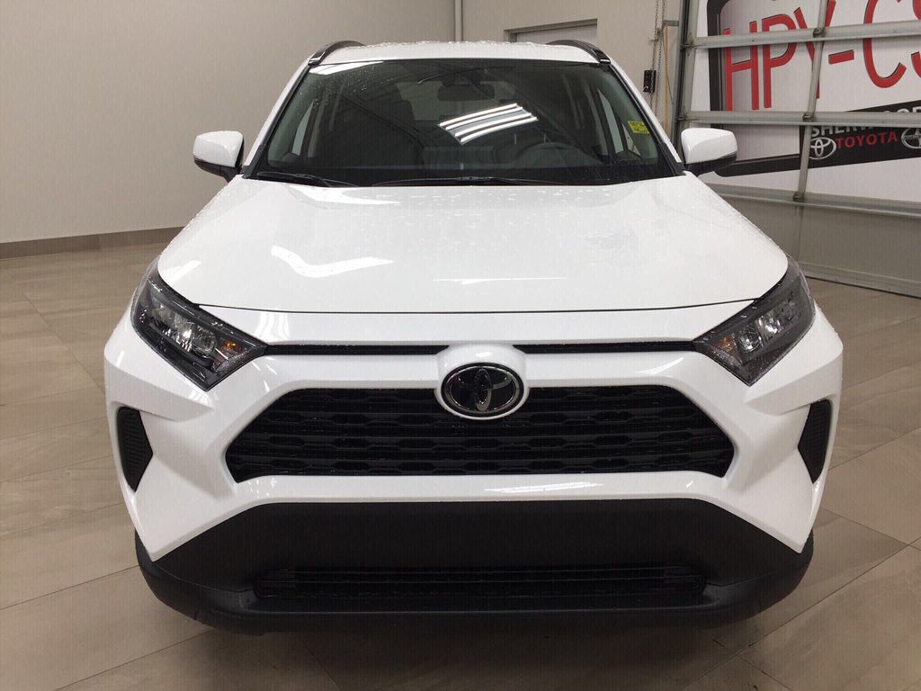 White[Super White] 2021 Toyota RAV4 LE AWD Front Vehicle Photo in Sherwood Park AB