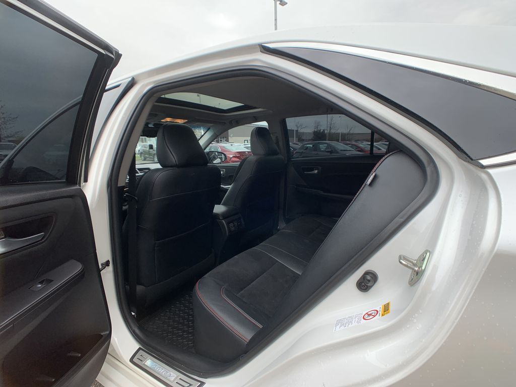 White[Blizzard Pearl] 2017 Toyota Camry Right Side Rear Seat  Photo in Brampton ON