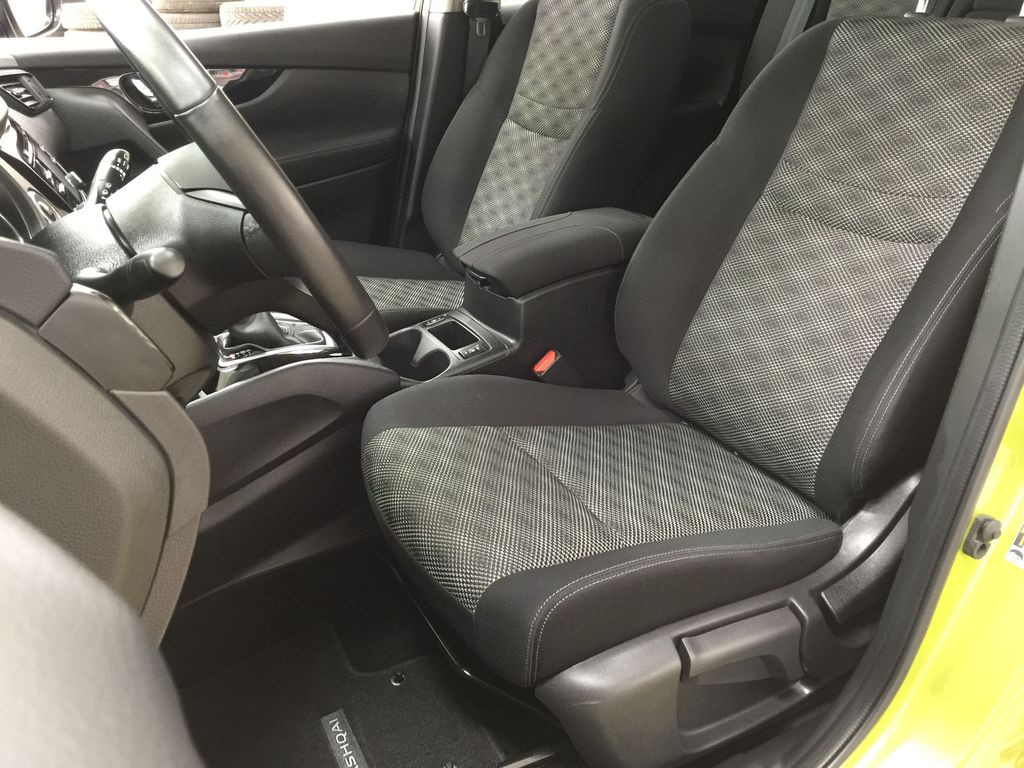 Green[Nitro Lime Metallic] 2018 Nissan Qashqai SV Left Front Interior Photo in Sherwood Park AB