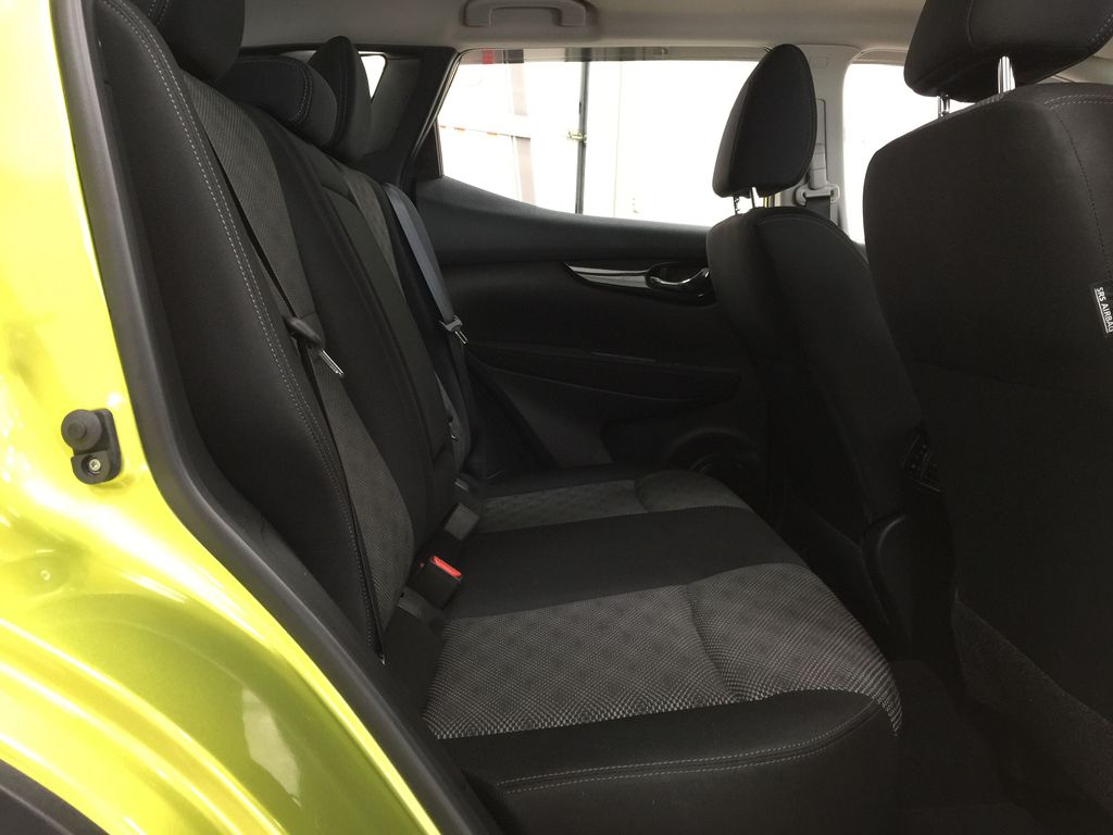 Green[Nitro Lime Metallic] 2018 Nissan Qashqai SV Right Side Rear Seat  Photo in Sherwood Park AB