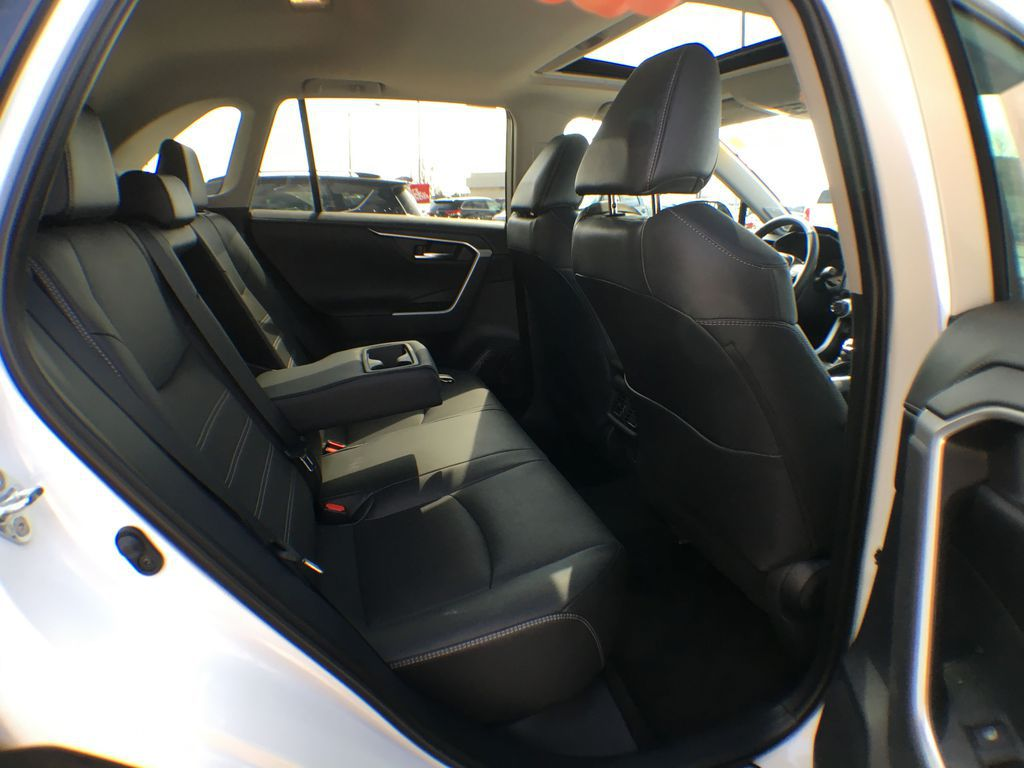 White[Blizzard Pearl] 2021 Toyota RAV4 AWD Limited Package D1RFVT AB Right Rear Interior Door Panel Photo in Brampton ON
