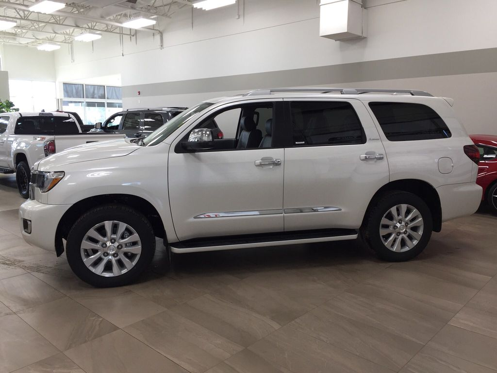 White[Blizzard Pearl] 2021 Toyota Sequoia Platinum Left Side Photo in Sherwood Park AB