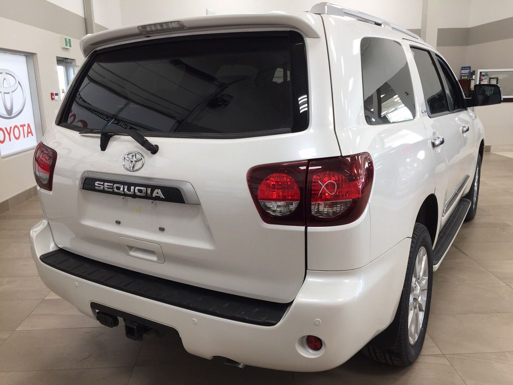 White[Blizzard Pearl] 2021 Toyota Sequoia Platinum Right Rear Corner Photo in Sherwood Park AB