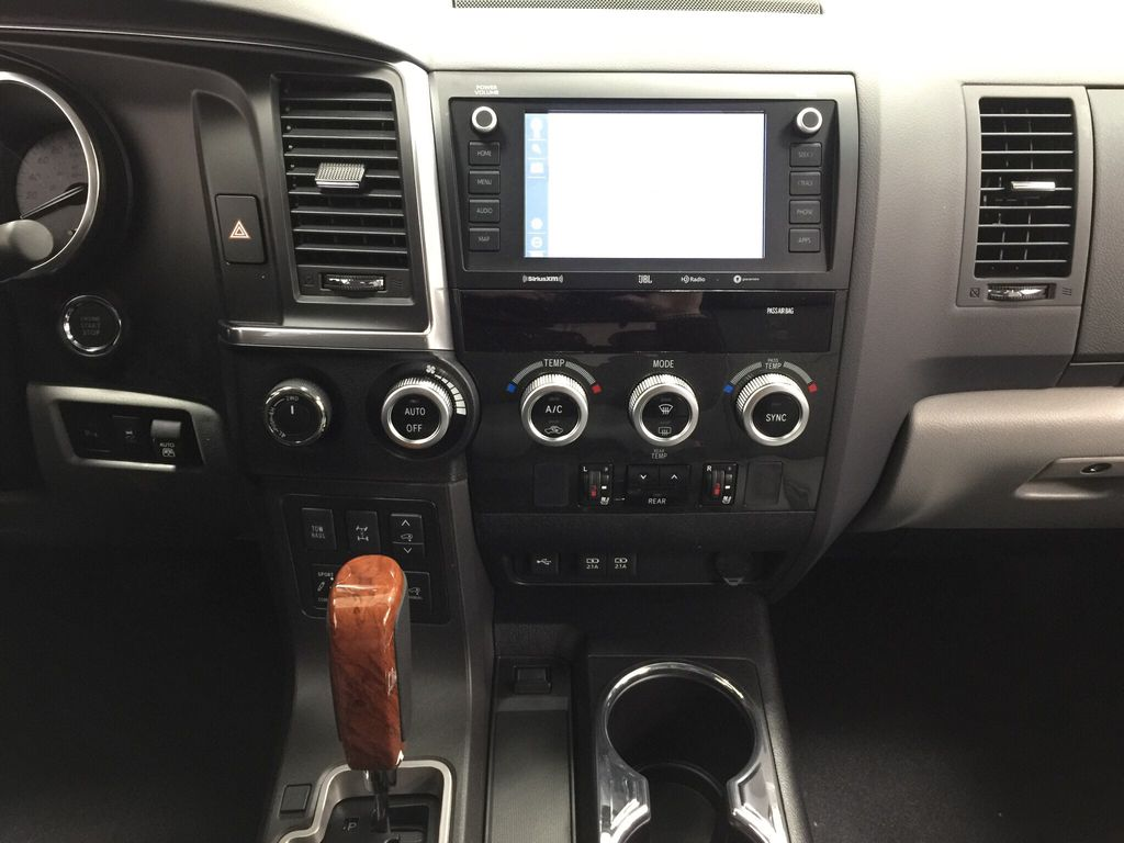 White[Blizzard Pearl] 2021 Toyota Sequoia Platinum Central Dash Options Photo in Sherwood Park AB