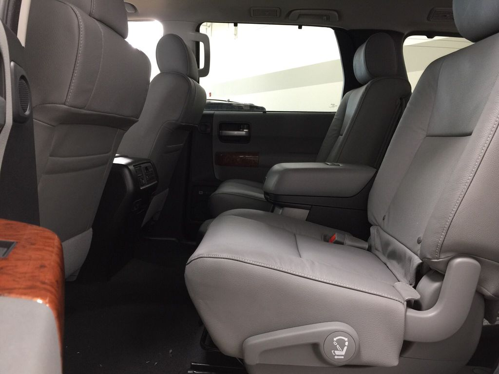 White[Blizzard Pearl] 2021 Toyota Sequoia Platinum Rear Seat Photo in Sherwood Park AB