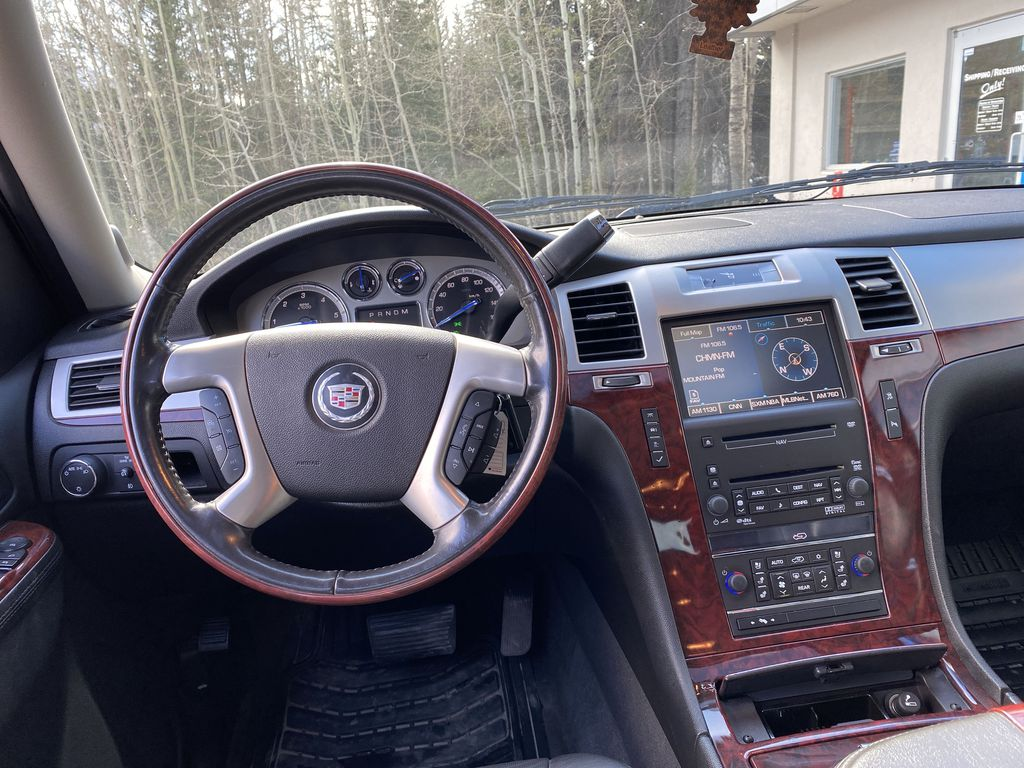 Black Ice Premium paint 2010 Cadillac Escalade ESV Strng Wheel/Dash Photo: Frm Rear in Canmore AB
