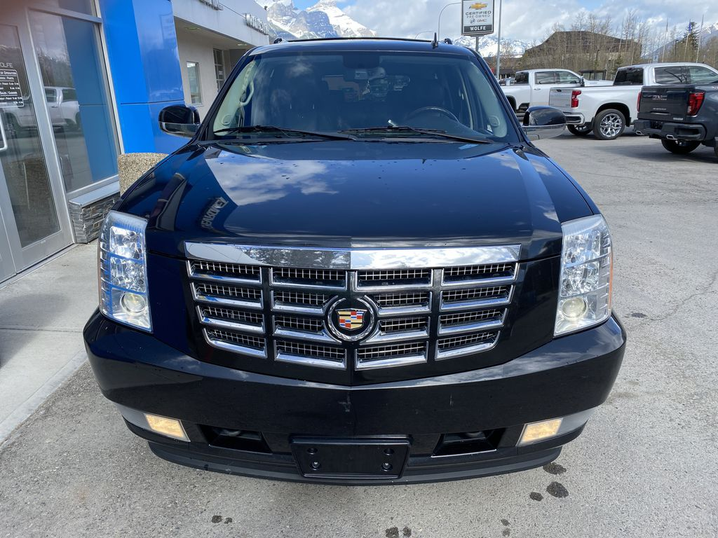 Black Ice Premium paint 2010 Cadillac Escalade ESV Front Vehicle Photo in Canmore AB