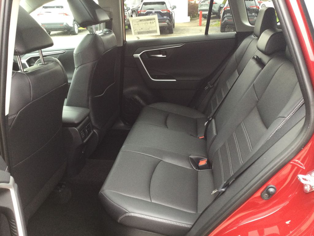 Red[Ruby Flare Pearl] 2021 Toyota RAV4 Left Side Rear Seat  Photo in Brockville ON