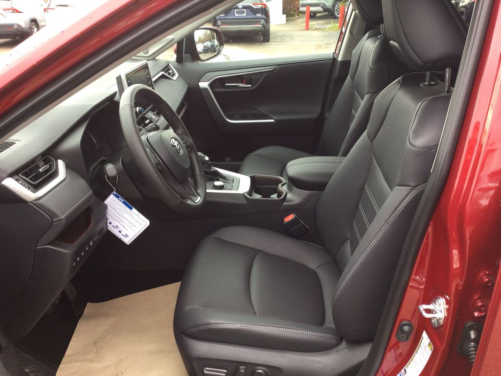 Red[Ruby Flare Pearl] 2021 Toyota RAV4 Left Front Interior Photo in Brockville ON