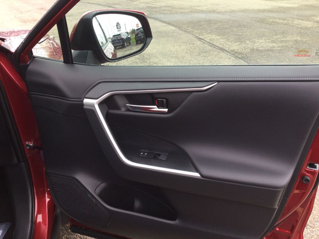 Red[Ruby Flare Pearl] 2021 Toyota RAV4 Right Front Interior Door Panel Photo in Brockville ON