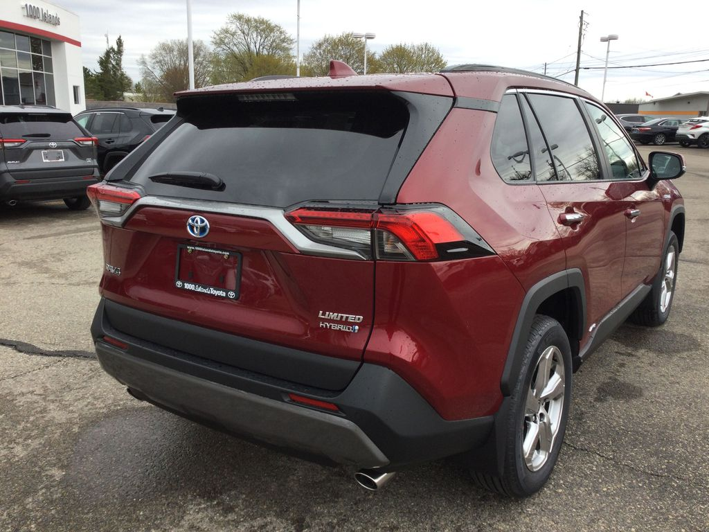 Red[Ruby Flare Pearl] 2021 Toyota RAV4 Right Rear Corner Photo in Brockville ON