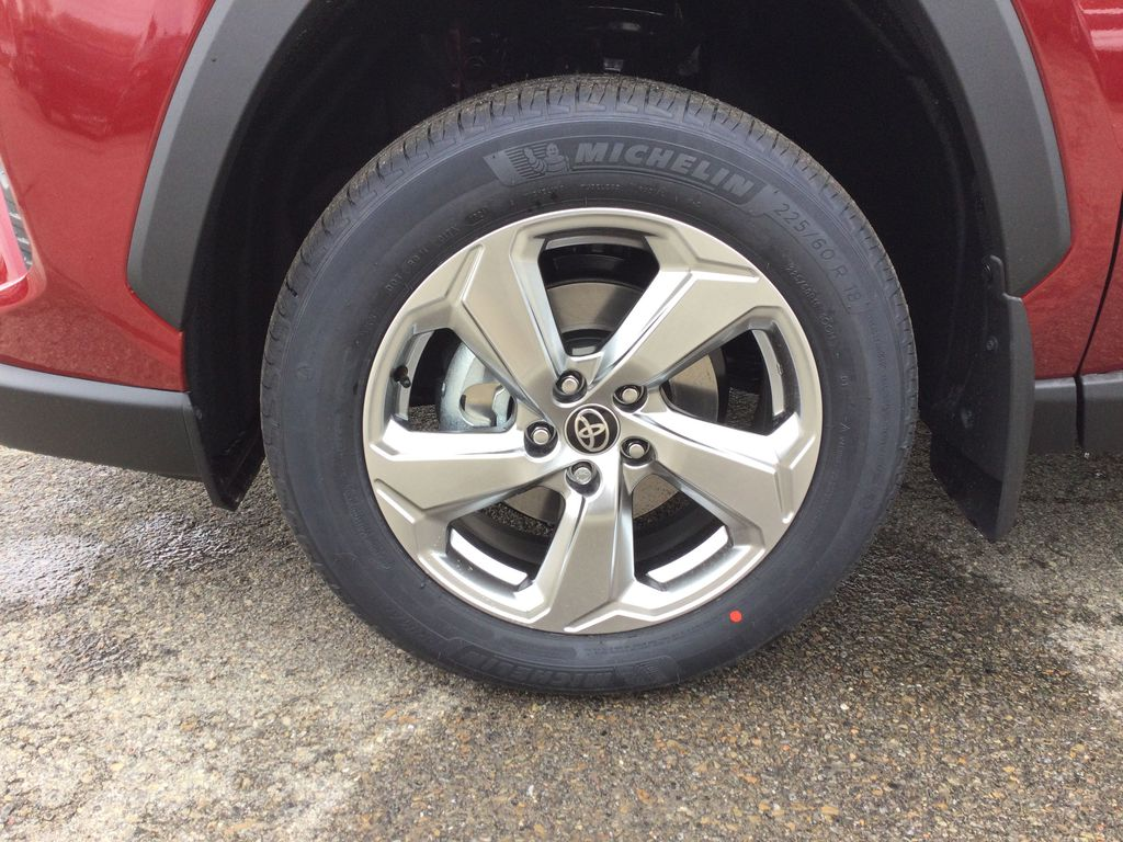 Red[Ruby Flare Pearl] 2021 Toyota RAV4 Left Front Rim and Tire Photo in Brockville ON