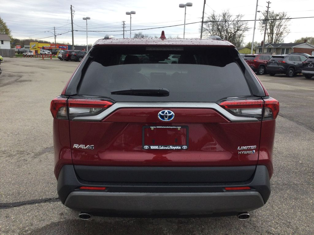 Red[Ruby Flare Pearl] 2021 Toyota RAV4 Rear of Vehicle Photo in Brockville ON