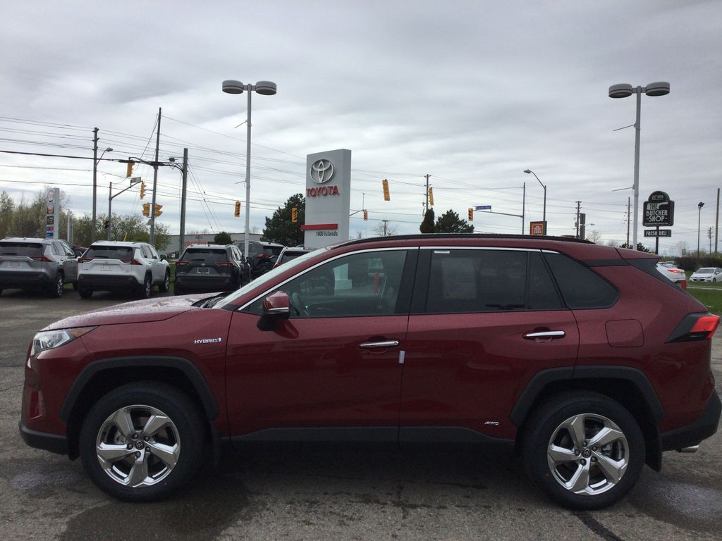 Red[Ruby Flare Pearl] 2021 Toyota RAV4 Left Side Photo in Brockville ON