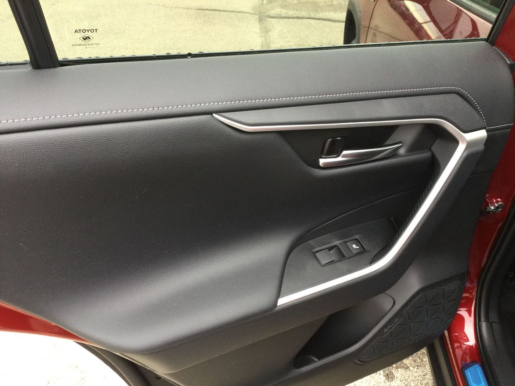 Red[Ruby Flare Pearl] 2021 Toyota RAV4 Left Rear Interior Door Panel Photo in Brockville ON