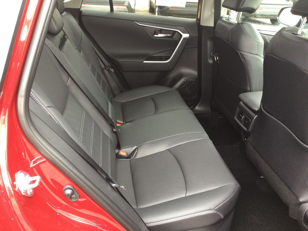 Red[Ruby Flare Pearl] 2021 Toyota RAV4 Right Side Rear Seat  Photo in Brockville ON