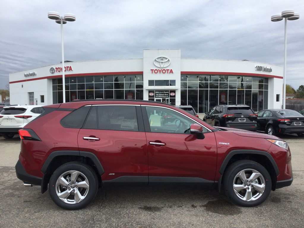 Red[Ruby Flare Pearl] 2021 Toyota RAV4 Right Side Photo in Brockville ON