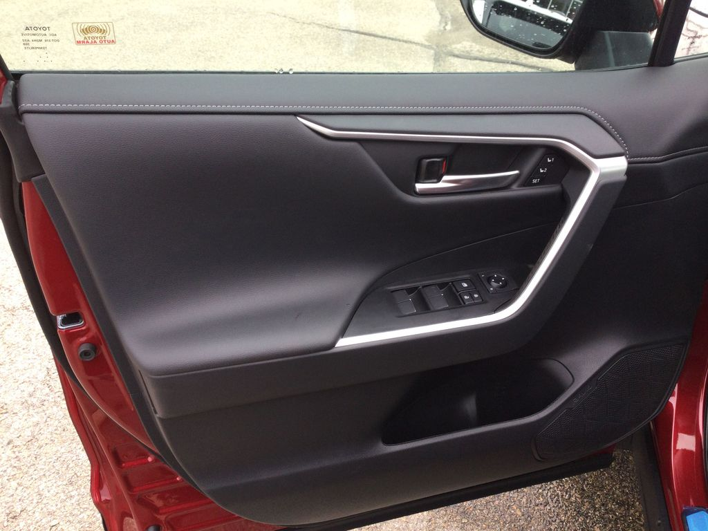 Red[Ruby Flare Pearl] 2021 Toyota RAV4 Left Front Interior Door Panel Photo in Brockville ON