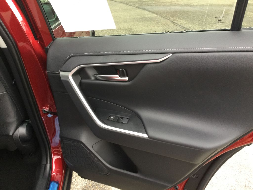 Red[Ruby Flare Pearl] 2021 Toyota RAV4 Right Rear Interior Door Panel Photo in Brockville ON
